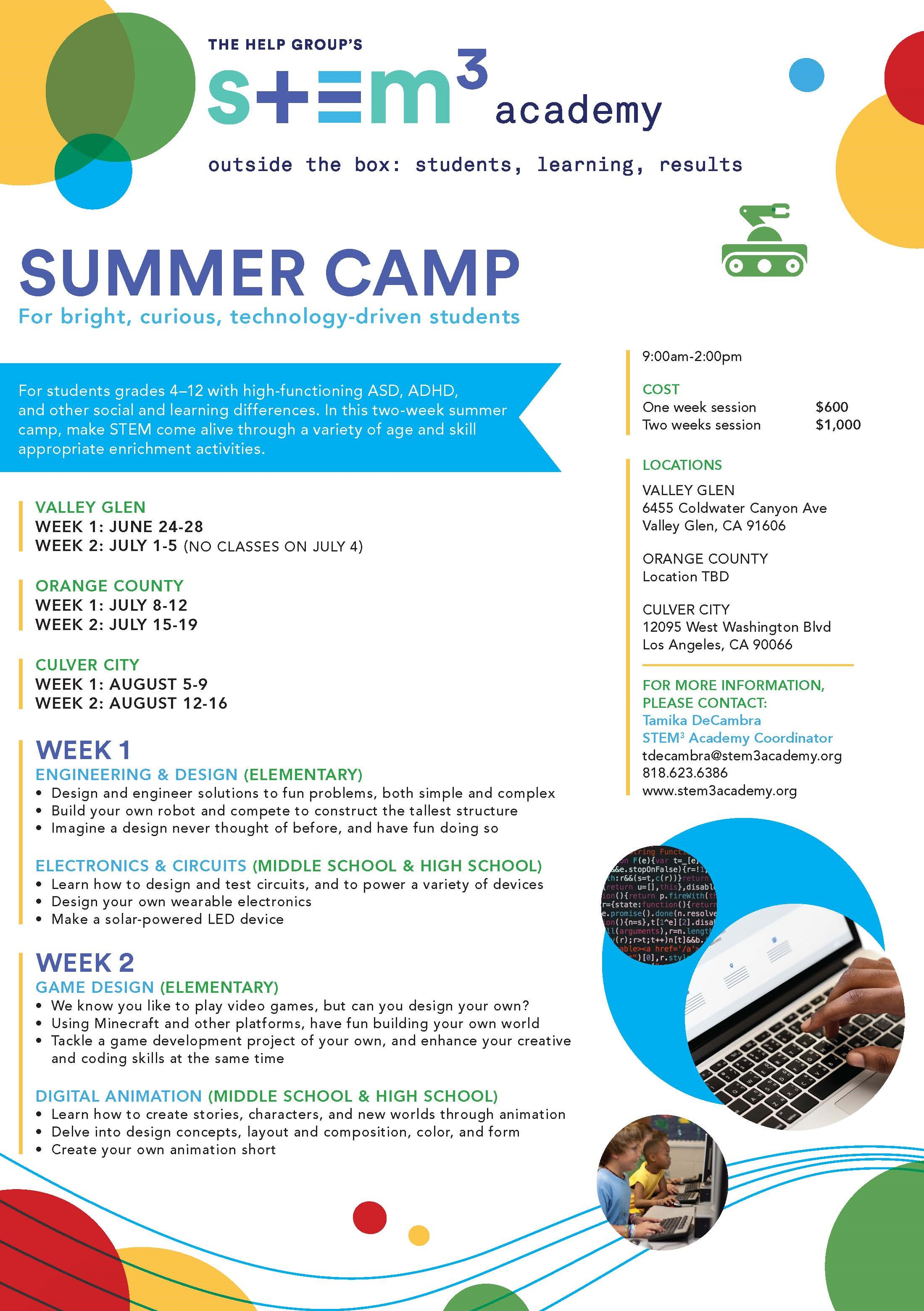 STEM3 Academy Summer Camp - Kids Like Me
